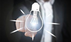 Turn On Turn Off Innovation Lamp Pear Progress