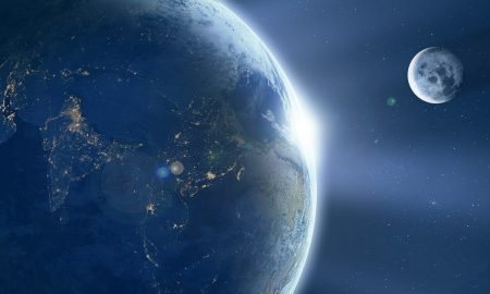 Earth Moon Ache Sunrise Space Universe Astronomy